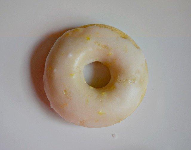 Homemade baked lemon donuts