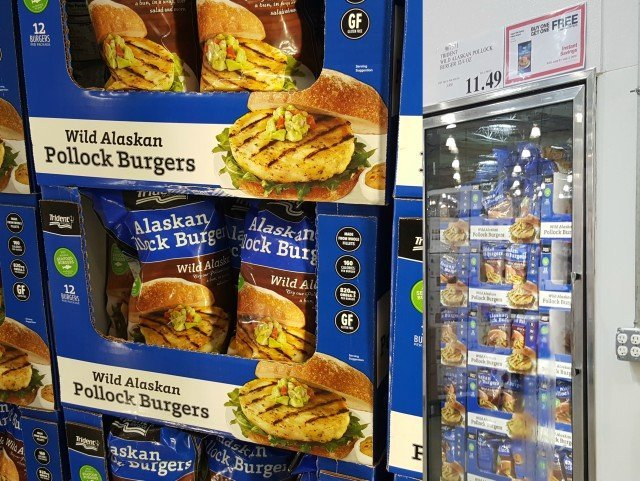 Trident Seafood Pollock Burgers at Costco