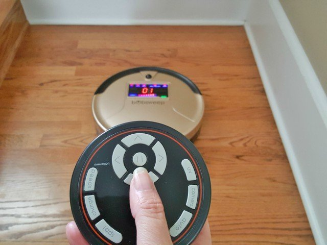 Bobsweep has a remote control. Another reason this is the best robotic vacuum available