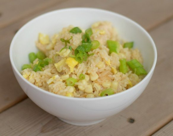 Easy homemade chicken fried rice recipe