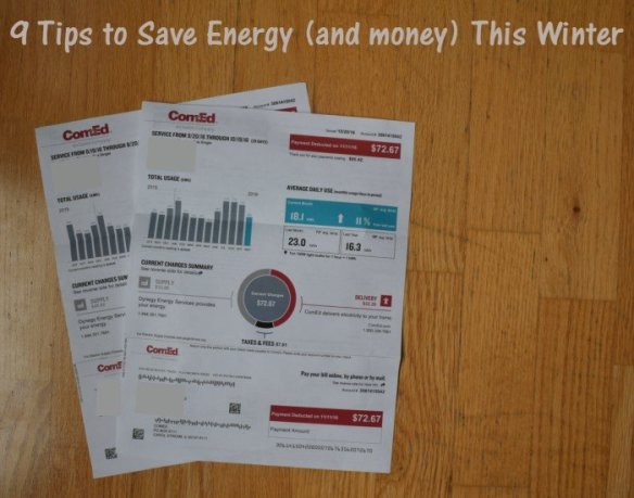 How to save energy this winter