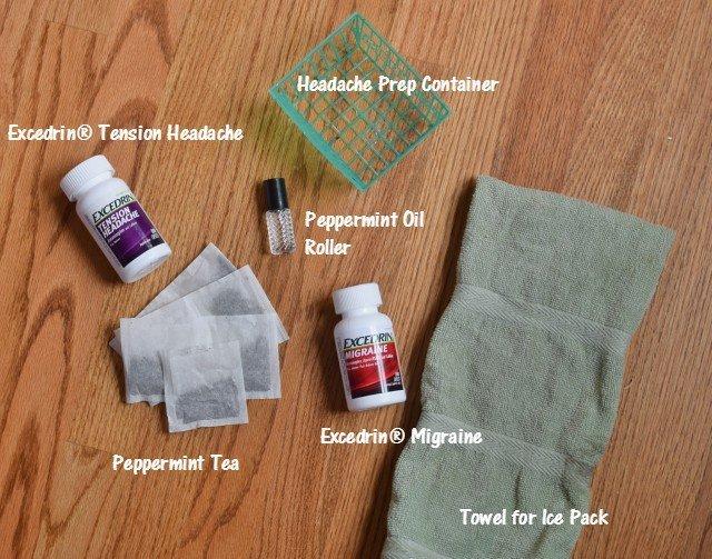 Create a headache prep kit