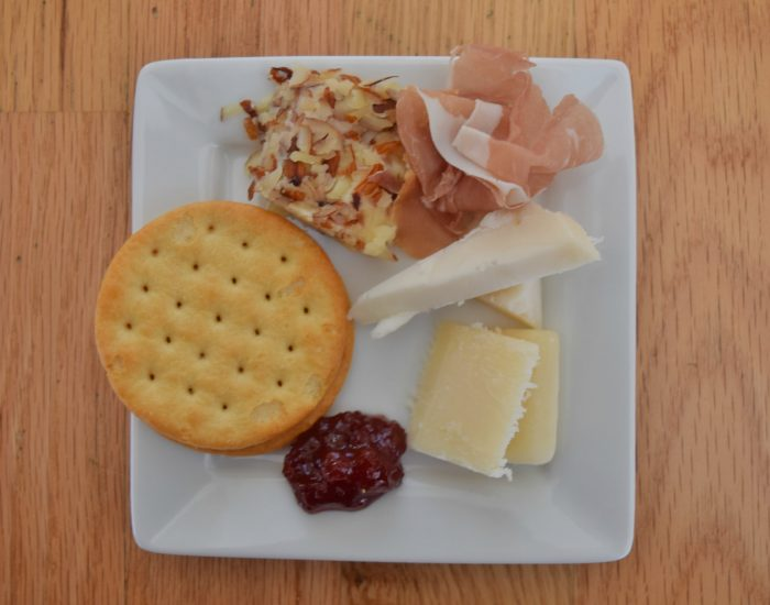 Perfect holiday appetizer plate
