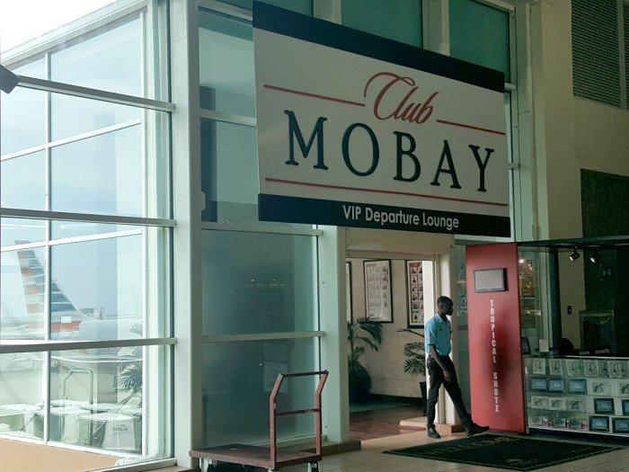 Club Mobay Departure Lounge entrance