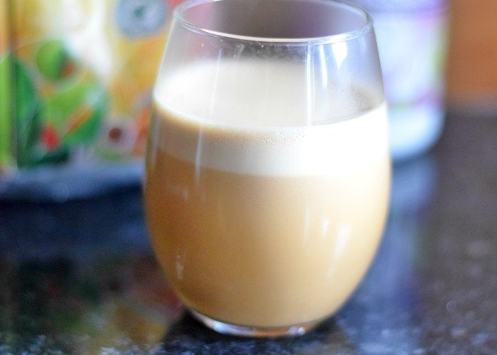 Perfect cup of Bulletproof Coffee with foam