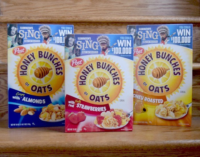 Post honey bunches of oats sing movie sweepstakes