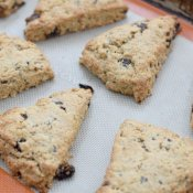 Fresh baked cherry chip scones recipe