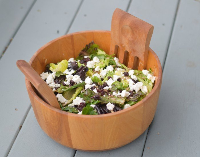Goat Cheese And Dried Cherry Salad With Red Wine Vinaigrette