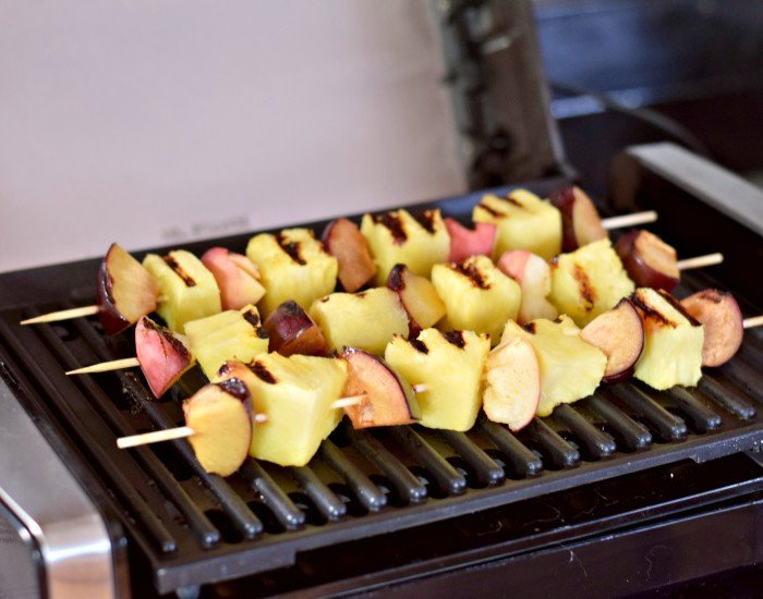 Make grilled fruit on an indoor grill