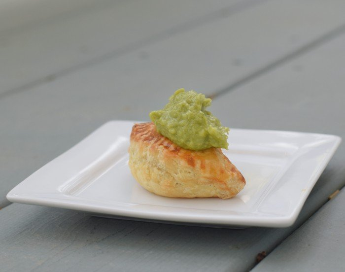Try a honey habanero beef empanada topped with guacamole