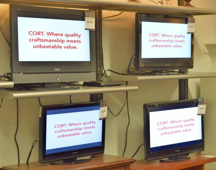 Add televisions for your basement from CORT Furniture Clearance Centers