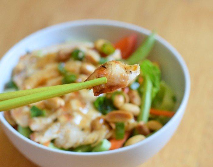Bite of Kung Pao Chicken Salad