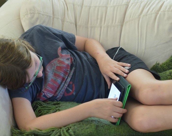 Kids stuck on devices all day long