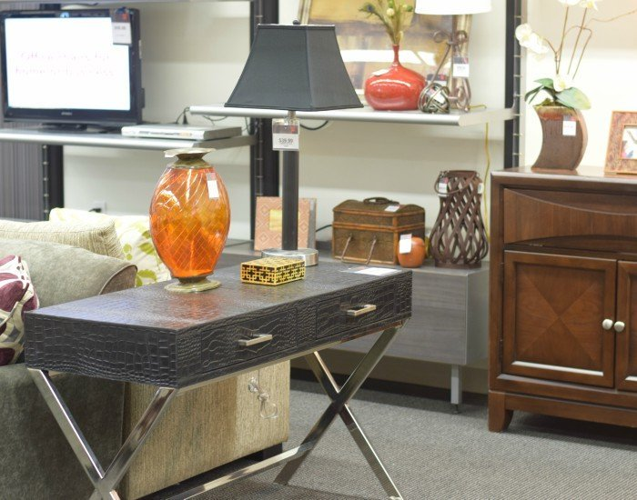 Use nontraditional pieces of basement furniture to create storage options