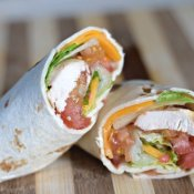 Enjoy a perfect picnic sandwich with these chicken taco wraps