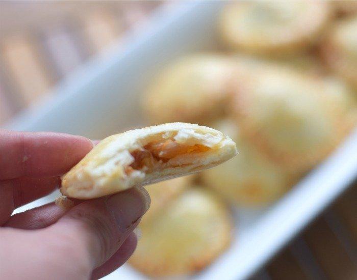 Try bite of easy chicken empanada