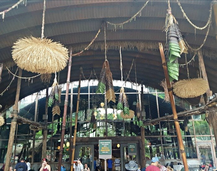 Walking into the Satuli Canteen in Animal Kingdom