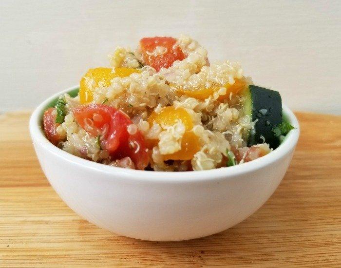 Delicious veggie quinoa salad recipe