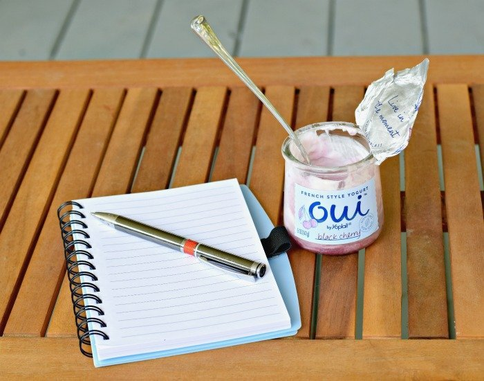 Enjoy a quiet mom moment of reflection with Oui by Yoplait