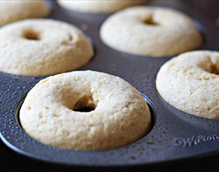Freshly baked homemade doughnuts