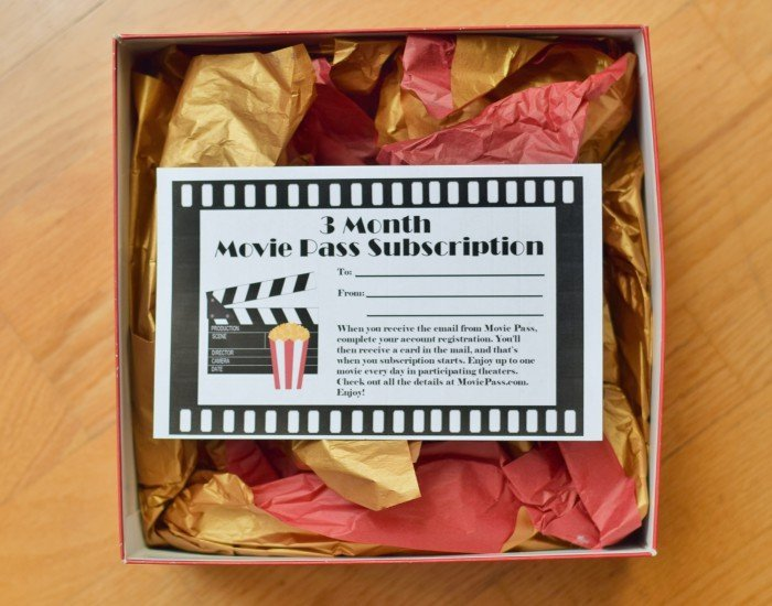 movie gift certificates