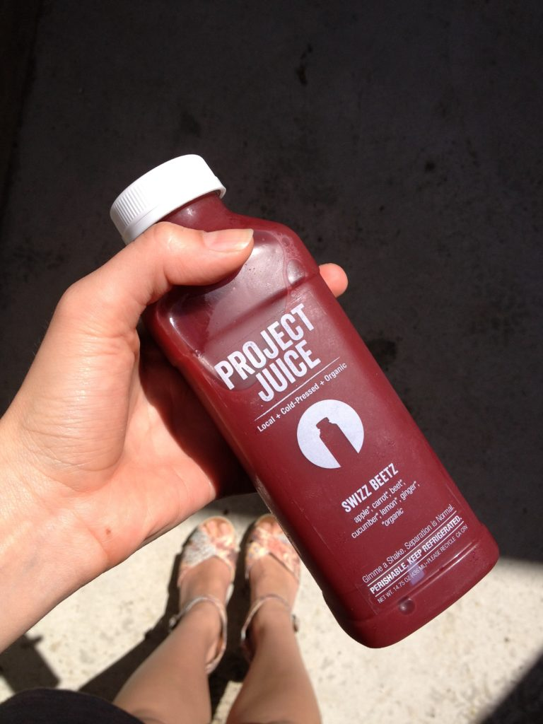 delicious Swiss Beetz juice from Project Juice in San Francisco