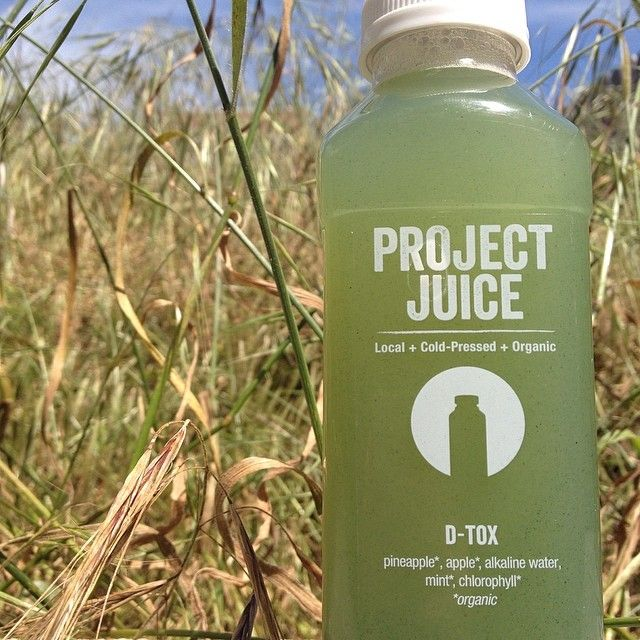 delicious dtox juice from Project Juice in San Francisco