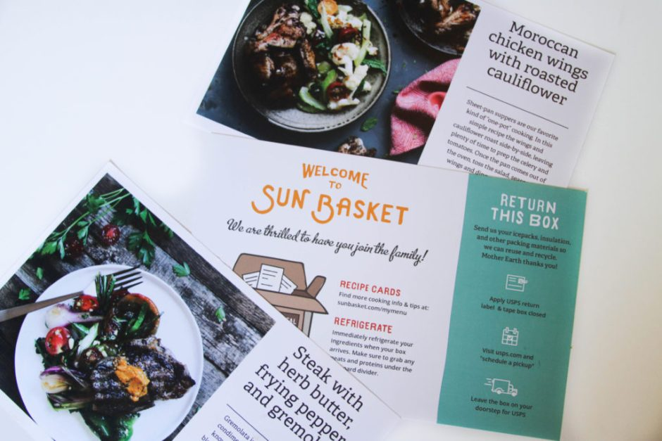 review of SunBasket healthy food delivery service