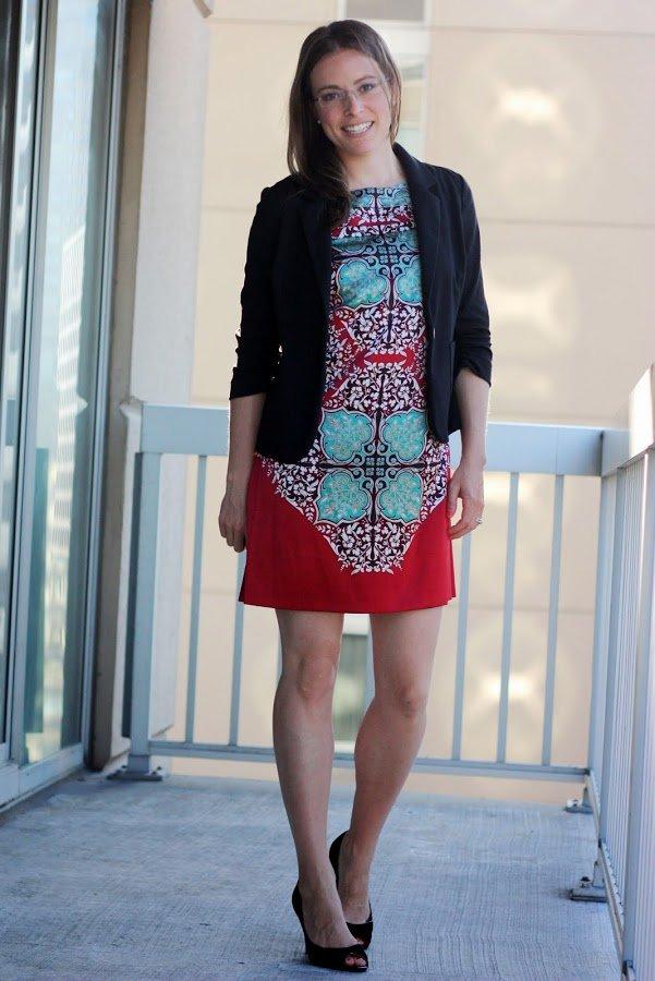 thrifted refashioned silk dress - DIY tutorial and wear it six ways - www.honestlymodern.com