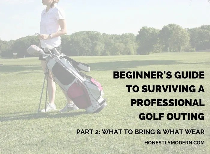 Have a golf outing for work coming up and not sure where to start? Check out this three part guide for surviving a professional golf outing as a beginner golfer. You can do it! So check it all out now.
