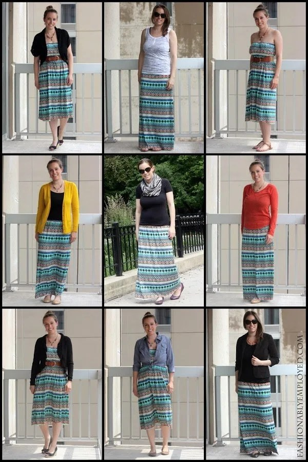 DIY maxi skirt remix; nine maxi styles