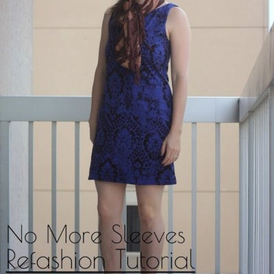 No More Sleeves ~ Refashioned Dress Tutorial