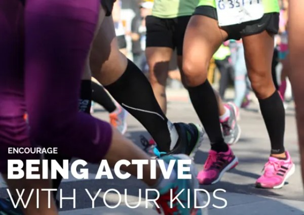 Encourage being active with your kids | www.honestlymodern.com