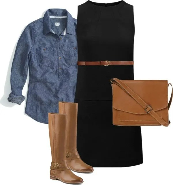 Black, Cognac and Chambray Target + TOMS Work Style