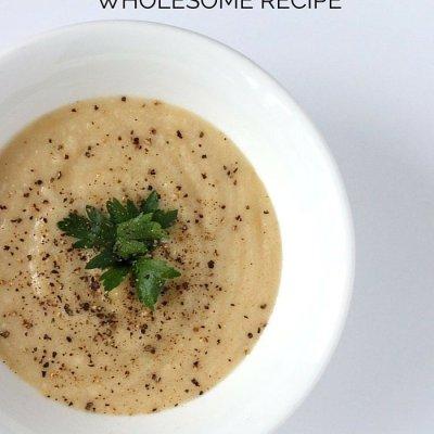 Farmer's Market Fresh: Roasted Cauliflower Cheddar Soup