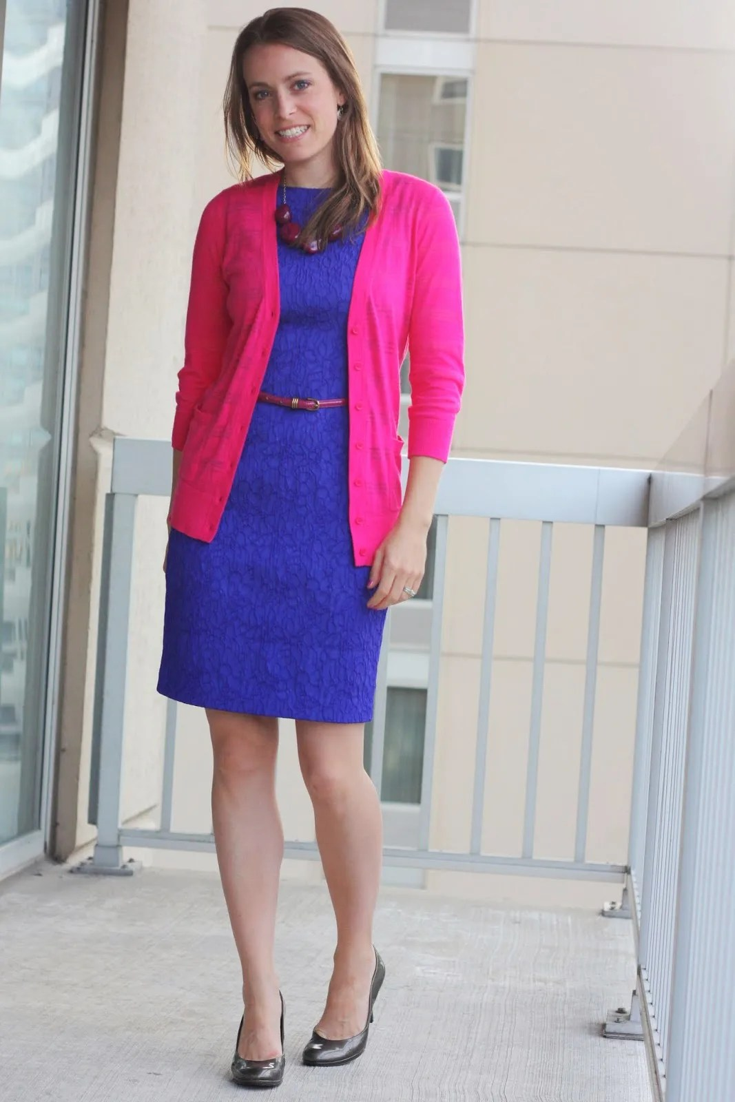 9fb68bc254d pink-sweater-and-blue-dress