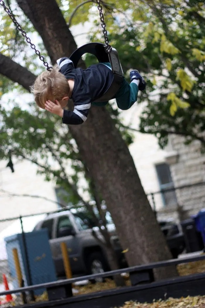 FashionablyEmployed.com   Guide to Visiting Chicago during the Summer with Kids   Swinging at Seneca Playlot Park