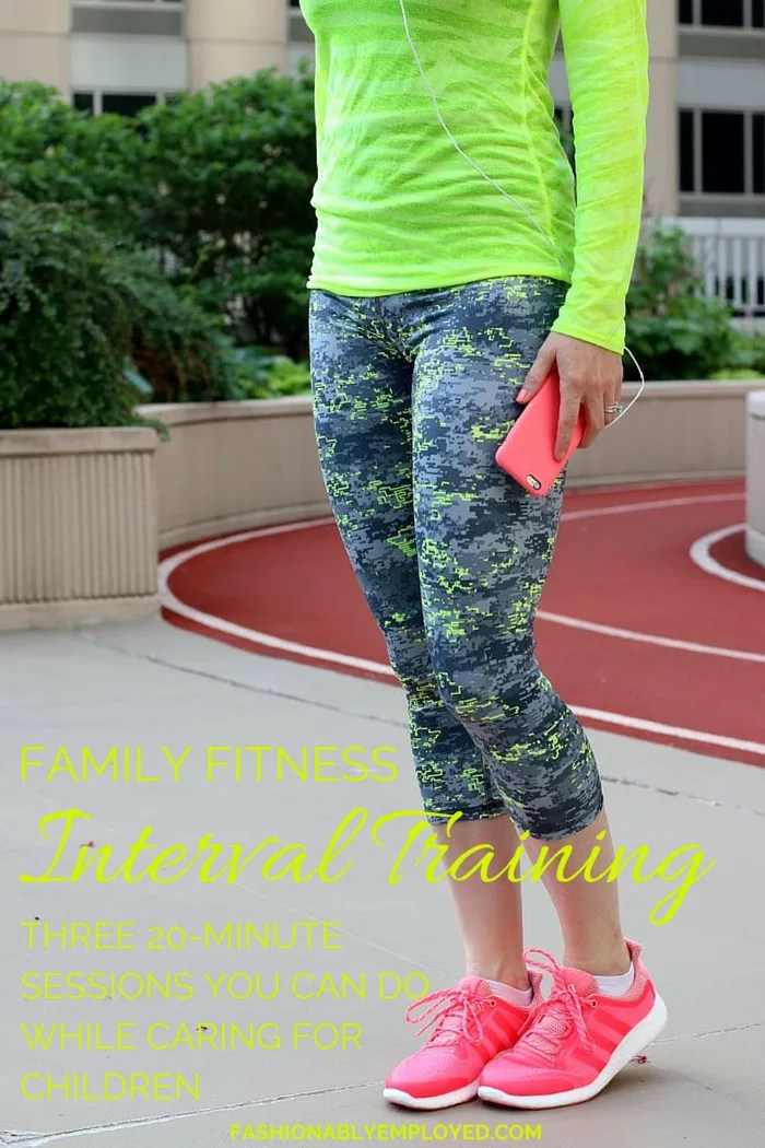 Family Fitness - Internal Training; Three 20-minute sessions you can do while caring for children