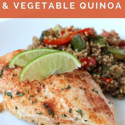 Seasoned Chicken & Vegetable Quinoa Salad