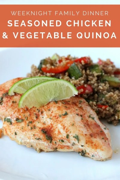 Seasoned Chicken & Vegetable Quinoa Salad