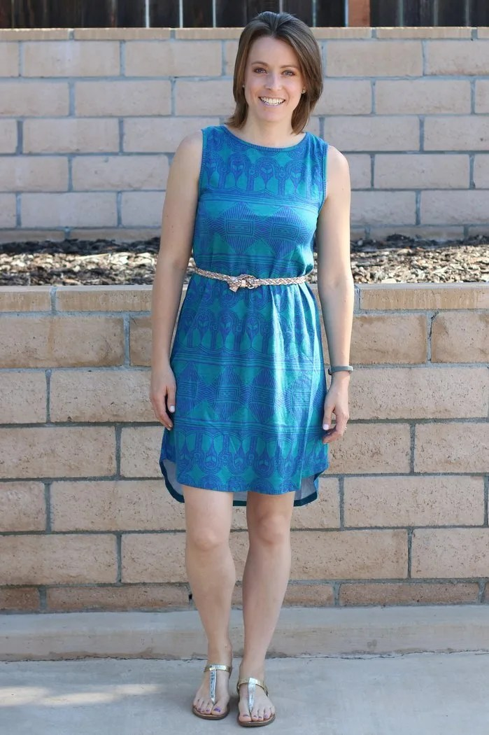 FashionablyEmployed.com | Conscious style, Threads 4 Thought hi low summer dress with sandals, casual weekend mom style for warm summer days