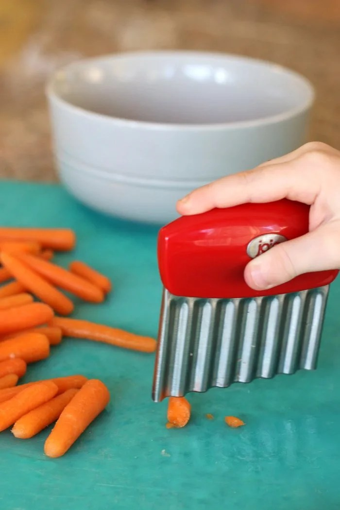 Want to get your little ones in the kitchen and start their appreciation of healthy food young? Check out this post with a little kitchen hack to get children even as young as toddlers involved in meal prep.