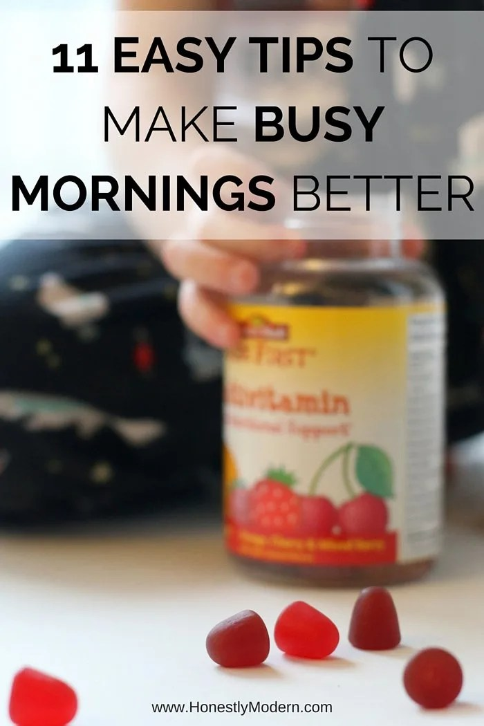 Tired of struggling with hectic mornings getting kids ready and rushing out the door? Check out these 11 easy ideas to help make your mornings more streamlined and less stressed. Click through to check them out!