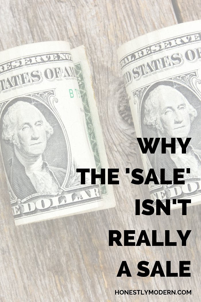 It all sounds great, but those big sales at big retailers are more marketing ploys than customer benefits. Click through for a secret behind the sale that get's so many of us to buy. Hint: The Sale Isn't Really A Sale