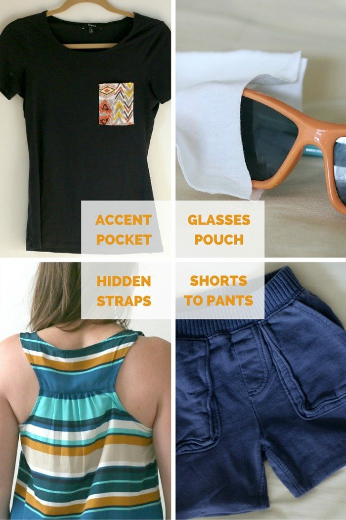 Details of 4 No Sew Upcycled Style DIYs in Under 15 Minutes