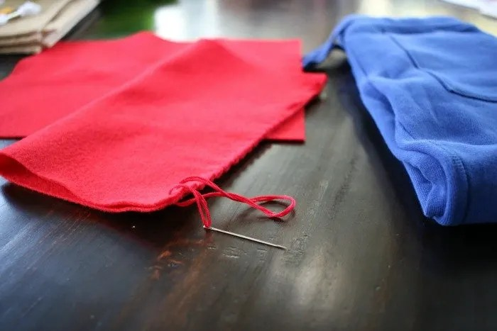 hand-stitching-with-embroidery-thread-for-a-simple-diy-captain-america-halloween-costume