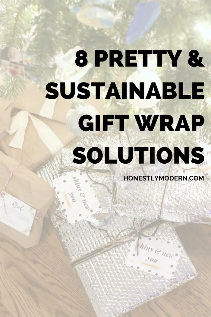 Gift wrapping is a great opportunity to repurpose so many materials already around the house. Check out these 8 pretty and sustainable solutions for holiday gift wrapping.