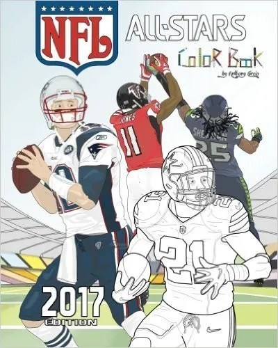 2017 nfl all stars coloring book - Sports Coloring Book
