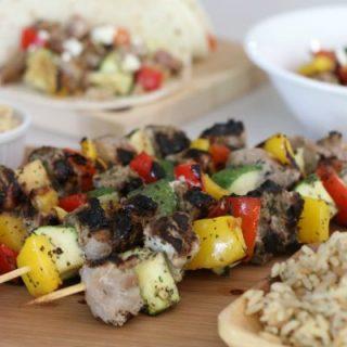 Hatfield Mediterranean Pork and Vegetable Kebabs
