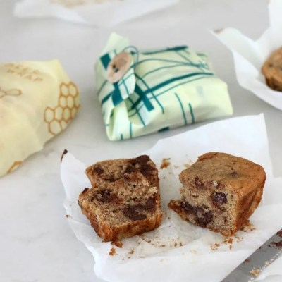 Simply Relish | Bee's Wrap Up Mini Chocolate Chip Banana Bread Loaves